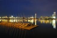 美国查尔斯河夜景图片_17张