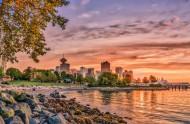 加拿大温哥华码头风景图片_10张