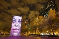 美国芝加哥皇冠喷泉夜景图片_12张