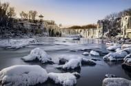 冬天的吊水楼瀑布风景图片_10张