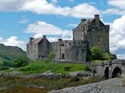 古老的蘇格蘭艾琳多南堡建筑風景圖片_15張