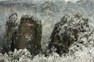 湖南張家界黃獅寨雪景圖片_9張