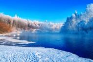 黑龍江庫爾濱河的冬天風景圖片_15張