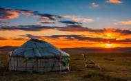 內蒙古貢格爾草原日落晚霞唯美風景圖片_9張