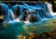 老挝琅勃拉邦光西瀑布图片_8张