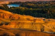 落日下的五彩滩风景图片_8张
