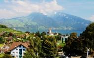 瑞士小鎮盧塞恩風景圖片_15張