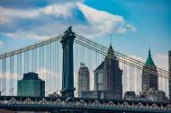 美國紐約曼哈頓大橋風景圖片_16張