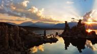 美国加州莫诺湖黄昏风景图片_13张