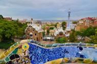 西班牙巴塞罗那古埃尔公园风景图片_12张