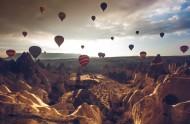 飛上天的熱氣球圖片_11張