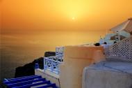 希腊圣托里尼岛日落风景图片_9张