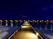馬爾代夫滿月島唯美夜景圖片_7張