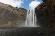 冰岛共和国斯科加瀑布图片_9张
