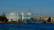 俄罗斯圣彼得堡涅瓦河风景图片_13张