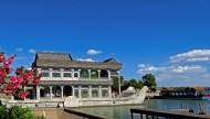 蓝天白云下的颐和园风景图片_11张