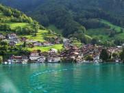 瑞士图恩湖风景图片_17张