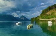 瑞士图恩湖风景图片_14张