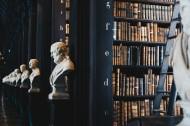 英国都柏林圣三一学院图书馆的书架图片_7张