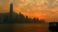 香港维多利亚港日落风景图片_8张
