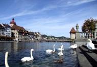 瑞士琉森湖风景图片_9张