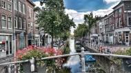 小镇里的运河图片_15张
