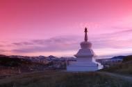 西藏落日風景圖片_9張