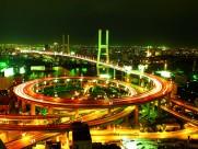 上海延安路高架桥夜景图片_9张