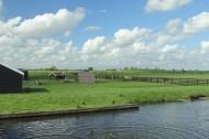 荷兰风车村桑斯安斯风景图片_15张