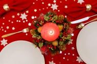 圣誕節餐桌裝飾圖片_12張