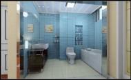 清新藍色系衛生間設計圖片_5張