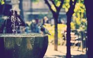 美丽的街景喷泉图片_20张