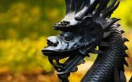 霸气的龙形雕塑图片_13张