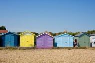 彩色沙滩小屋图片_10张