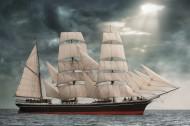 海上的帆船圖片_15張