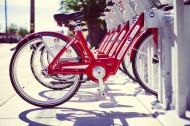 紅色的自行車圖片_12張