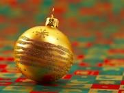 圣诞节彩球图片_23张