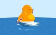 可愛小黃鴨圖片_21張