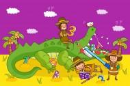 卡通兒童世界矢量圖片_50張