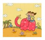 兒童和學校卡通矢量圖片_50張
