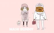 可爱的面具兔系列卡通图片_22张