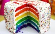 美味的彩虹蛋糕图片_7张