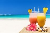 沙滩上的饮料图片_15张
