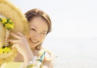 女性海边清爽度假图片_38张
