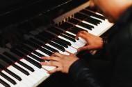 正在弹钢琴的手图片_14张