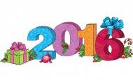 2016新年猴年數字素材設計圖片_12張