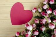 温暖的爱心与漂亮的花朵图片_18张
