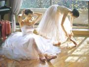 芭蕾舞者油画图片_16张