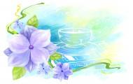 手繪花朵背景插畫圖片_34張