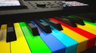 彩色钢琴按键图片_7张